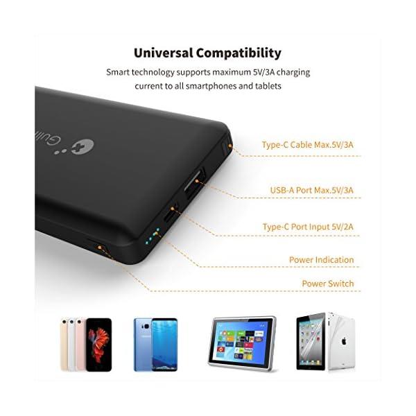 GULIkit Bateria Externa 10000mAh Power Bank para Nintendo Switch, 2 Puerto de Salida(USB C y USB) 5V/3A Carga Rápida…