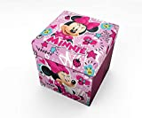 Star Disney Minnie Art Code - 54669 Pouf Contenant avec Coussin Imprimé Dimension 32 x 32 cm - version anglaise