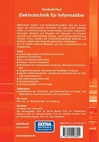 Elektrotechnik für Informatiker: mit MATLAB und Multisim (XLeitfäden der Informatik)