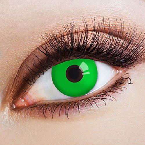 aricona Farblinsen grüne Kontaktlinsen farbig intensiv zum Halloween (Halloween Kostüm Hulk)