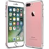 Coque iPhone 7 Plus, KKtick TPU Silicone Clair Transparente Bumper Cover [Absorption des chocs Technologie] Soft Coque Housse Protection Case pour iPhone 7 Plus