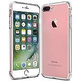 iPhone 7 Plus Hülle, KKtick Transparente Kratzfeste Schutzhülle iPhone 7 Plus Crystal Clear Bumper Premium TPU Silikon Durchsichtige Handyhülle für iPhone 7 Plus Case Cover