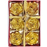 Multicolored Rose Shape Floating Candle Set | Home Decoration 6 Pc. (12)