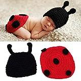 Ogquaton Qualité Premium Nouveau-Né Bébé Crochet Tricot Photo Photographie Prop Costume Chapeau Bonnets Tenue Bébé Jeu Bébé Photographie Costume