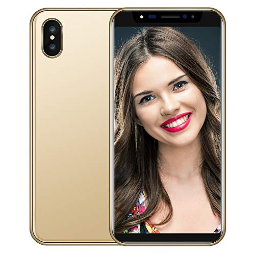 Dkings 5,8 Zoll Dual HDCamera Smartphone Android IPS Full Bildschirm GSM/WCDMA 16GB Touch-Screen WiFi Bluetooth GPS 3G Call Mobile Phone (Gold)