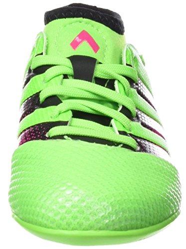adidas - Ace 16.3 Primemesh In J, Scarpe da calcio Unisex – Bimbi 0-24 Verde / rosa / nero (Versol / Rosimp / Negbas)