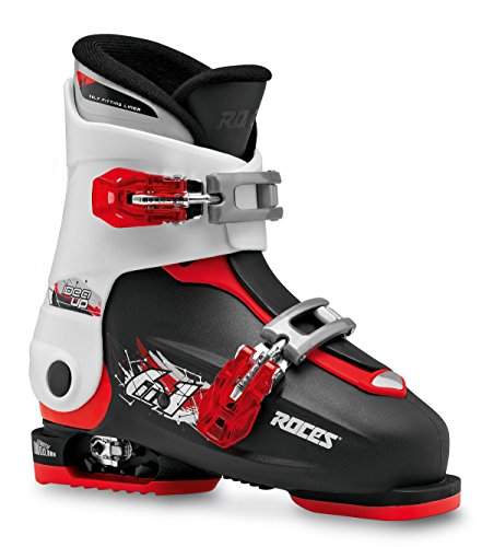 Roces Kinder Idea UP 19.0-22.0 Kinderskischuh-Verstellbar, Black-White-Red, 30-35