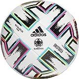 adidas Men's UNIFO TRN Soccer Ball, White/Black/Signal Green/Bright Cyan, 5