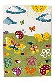 Australia - Townsville Grün Kinderteppich Flachfloor Kurzfloor Bunt Modern Neu, Größe:160cm x 230cm, Farbe:Grün