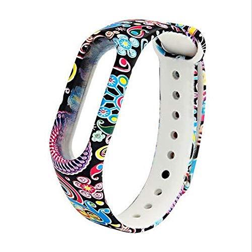 Shuzhen,Für Mi Band 2 Armband Strap Bunte Armband Armband Ersatz Smart Band Zubehör Silikonband(Color:BUNT)