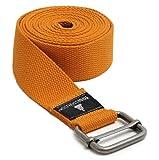 Yogistar Yogagurt - 260 cm - Metallverschluss - Orange