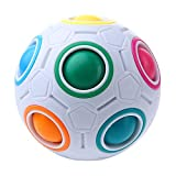 Magic Rainbow Ball,niceEshop(TM) Puzzle de Fútbol Magia Speed Cube Niños Juguetes Educativos para Niños Inteligentes,Blanco