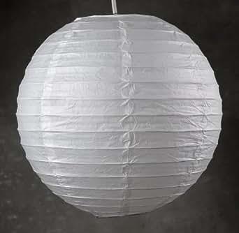 chinesische laterne lampenschirm globe geschlitzt kugel 50 cm wei beleuchtung. Black Bedroom Furniture Sets. Home Design Ideas