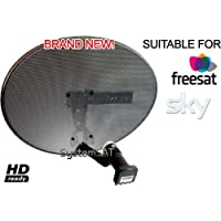 Systemsat Zone 1 Satellite Dish & Quad Lnb for Sky Freesat HD SD