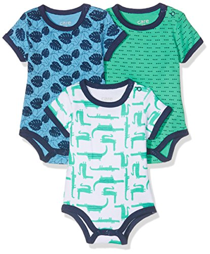 Care Body Bebé Niñas Manga Corta (pack de 3), Multicolor (Winter Gre