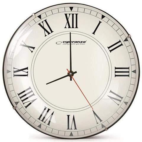 XXL Wanduhr 30x30 cm, Vintage Küchenuhr mit großem Ziffernblatt, Quartz Uhre im Retro Design, analoge Uhr ohne Ticken