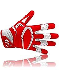 Cutters S451 Rev Pro 2D Gants de Football Américain rouge