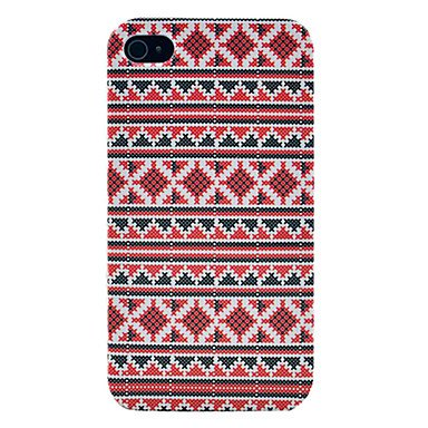 Cross fork Pattern Glossy Hard Plastic Phone Case for iPhone 4/4S (4s Cross)