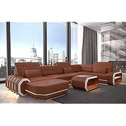 Conjunto de Muebles Para Salón Roma en forma de U con iluminación LED