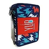 Astuccio 3 Zip Blu Midway Yub