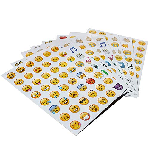 (Emoji Aufkleber 576 Nette lustige Sticker Glückliche Gesichter von iPhone Modische Geschenke für Kinder Erwachsene)