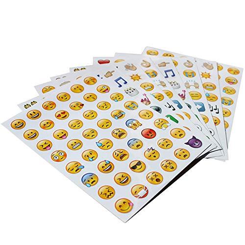 emoji sticker Emoji Aufkleber 576 Nette lustige Sticker Glückliche Gesichter von iPhone Modische Geschenke für Kinder Erwachsene