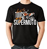 Siviwonder Unisex T-Shirt - SUPERMOTO SM BIKE - dont touch my - Motorrad Fun schwarz XL