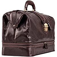 Maxwell-Scott® Handcrafted Italian Full Grain Leather Practitioner Doctors Bag (The DonniniL)