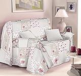 Überwurf, Tagesdecke, Sofabezug Creativity,Typ: Shabby Chic 160 X 250 CM Rosa