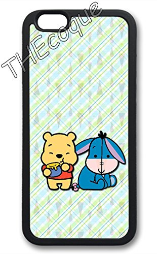 Coque silicone BUMPER souple IPHONE 4/4s - bourriquet eeyore CASE tpu DESIGN + Film de protection INCLUS 2