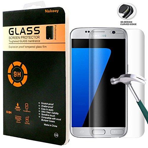 Preisvergleich Produktbild Samsung Galaxy S7 Edge Schutzfolie,Nakeey HD Clear Screen protecter Schutzfolie Schutzglas,Gehärtetem Glas Panzerglas Hartglas Screen Protector,Anti-Fingerabdruck mit Härtegrad 9H Tempered Glass