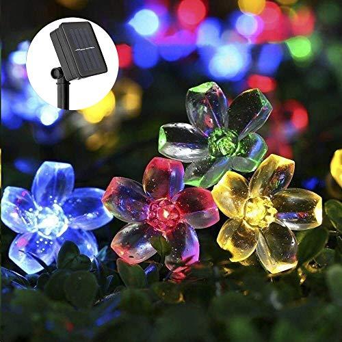 Fairy Lights solari all'aperto, TryLight 7M 50 Led Flowers Fairy Lights Fairy Lights Outdoor per giardino, Natale, Halloween, feste, decorazioni per balco