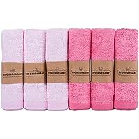 """Storeofbaby Paño de lavado de bambú para toallitas de toallitas de mano pequeñas reutilizables para bebé, 6 paquetes de 10""""x10"""""""