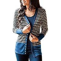Geili Damen Gestreift Langarmshirt Strickjacke Kimono Cardigan Cover Up Patchwork Outwear Frauen V-Ausschnitt... preisvergleich bei billige-tabletten.eu