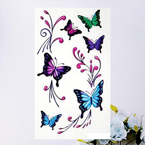ckers Temporäre Butterfly Patterns Stylish Tattoo Decals für Halloween Dekorating Kostüme Party ()
