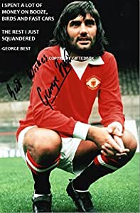 LIMITED EDITION GEORGE BEST MANCHESTER UNITED SIGNED QUOTE