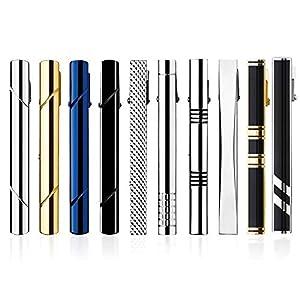 HBselect Krawattenklammer Set aus Kupfer Tie Clips 58mm Krawattennadel verschiedene Formen geeignet für jede Situation mit Geschenkbox klassische Accessoires für Herren