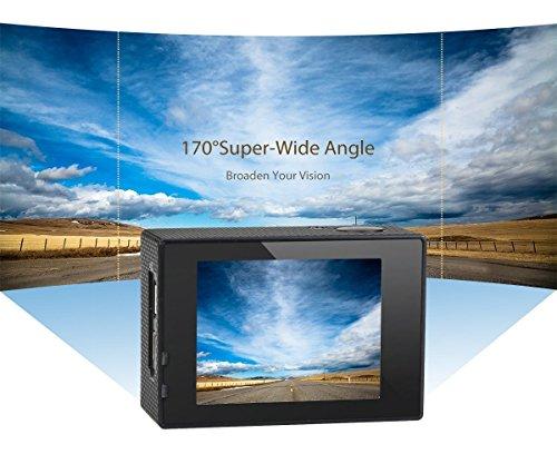 WiMiUS Action-Kamera 4K Action Cam 1080P 16MP Sport Action Kamera Wasserdichte Helmkamera - 4