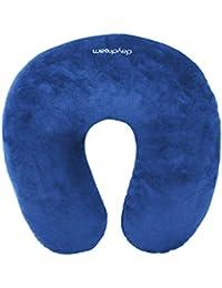 Daydream N-5001 Coussin tour de cou de voyage avec micro perles Bleu bleu