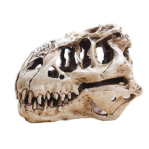 ZZH Einzigartige Dinosaurier T-Rex Schädel Handwerk Geschenke Statue Aquarium Dekorationen Lebensecht