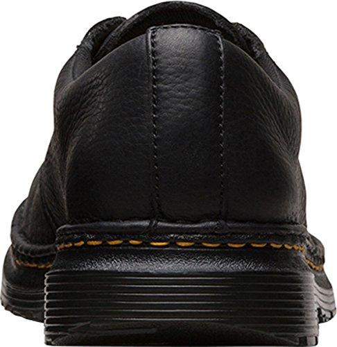 Dr.Martens Mens Lubbock Grizzly Leather Shoes Noir
