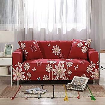 Odot Housse de Canapé élastique 1 siège: 90 140cm,Rouge