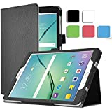 Samsung Galaxy Tab S2 9.7 (SM-T819) Case - IVSO Slim-Book Stand Cover Case for Samsung Galaxy Tab S2 9.7 inch Tablet (Black)