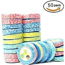 Toalla comprimida portátil de 50 piezas Mini tejido de moneda comprimida para viajes de deportes,