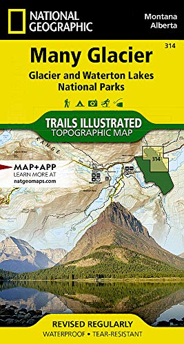 Many Glacier, Glacier National Park (National Geographic Trails Illustrated Map, Band 314) (Illustrated Trails Map)