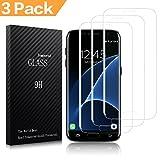 Actionpie Galaxy S7 edge Protector de pantalla, (3 Pack) Protector de pantalla de pel¨ªcula de vidrio no templado de cobertura completa para Samsung Galaxy S7 edge ,5.5 pulgadas