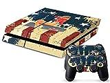 PlayStation 4 Designfolie Sticker Skin Set für Konsole + 2 Controller – US Bomber