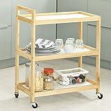 SoBuy® Carrello di servizio, Carrelli multiuso, Organizzazione ufficio, carrello da cucina, FKW34-WN,IT