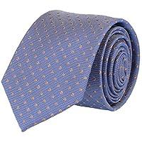 Pelo Classic Mens cravatta di seta blu scuro Dots 7 centimetri