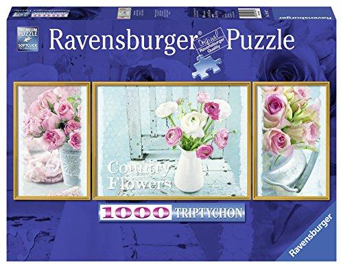 Ravensburger 19487 - La Magia dei Fiori Trittico Puzzle, 1000 Pezzi